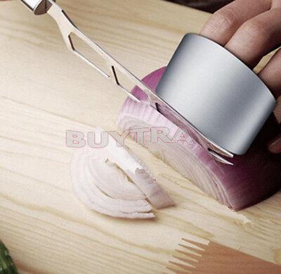 Kitchen Safe Slice Knife Shield Stainless Steel Finger Hand Protector Guard USSP