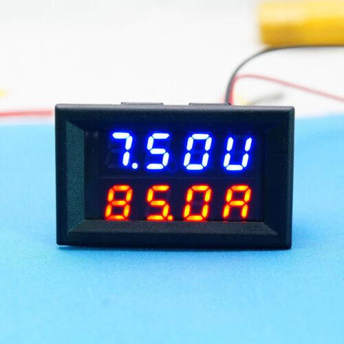 DC Volt Amp 0-30V 50A Digital LED Voltmeter Amperemeter Panelmeter 12v 24v Auto