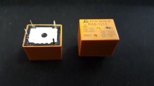 1x SAN HOLD RAS-1215 Relay 12VDC//15A 400R T.H. 10A//250VAC