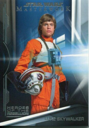 Star Wars Masterwork 2019 Heroes Of The Rebellion Chase Card HR-1 Luke Skywalker