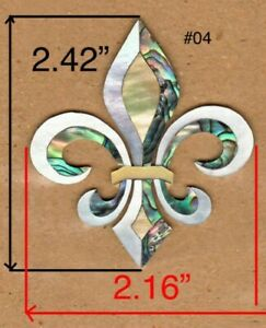 PH124-Fleur-De-Lis-Inlay-in-White-Gold-Mother-of-Pearl-And-Paua-Abalone