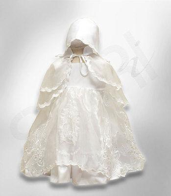 Audace Baby Ragazze Designer Avorio Battesimo Abito Cofano Ricamato Battesimo Girl Dress-