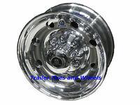 17.5 8 Lug Alcoa Polished Aluminum Trailer Wheel 665401 For 1/2 Studs