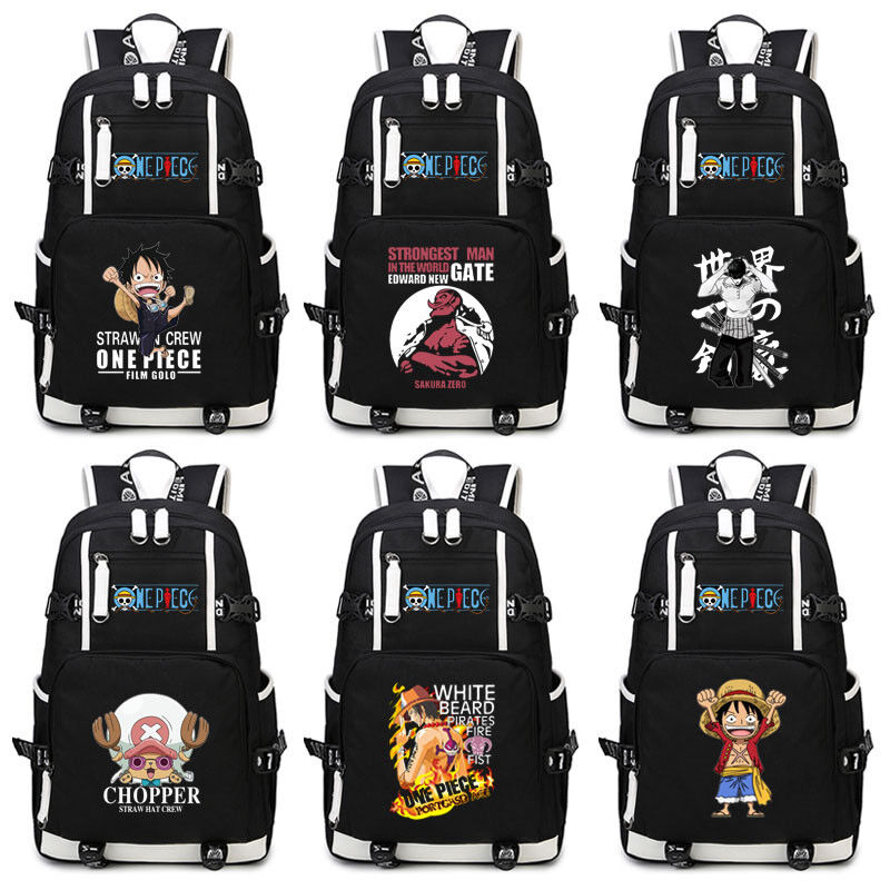 Luminous One Piece Luffy Canvas Backpack Cosplay Swagger bag School Bag Gift