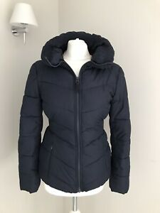 Joules-Ladies-Coat-Jacket-Uk-Size-8-Quilted-Navy-Blue-Short-Zip-Up-Warm-Fitted