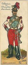 Chromo Lombart Gloire et costumes militaires 117 Lancier uniforme armée Napoléon