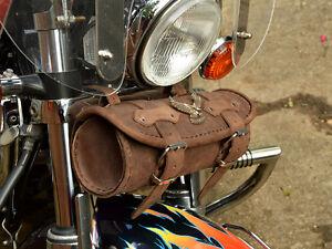 Hebr Leather Pouch Tool Roll Bag Honda Shadow Vt 500 600 750 1100 Vtx 1300 1800