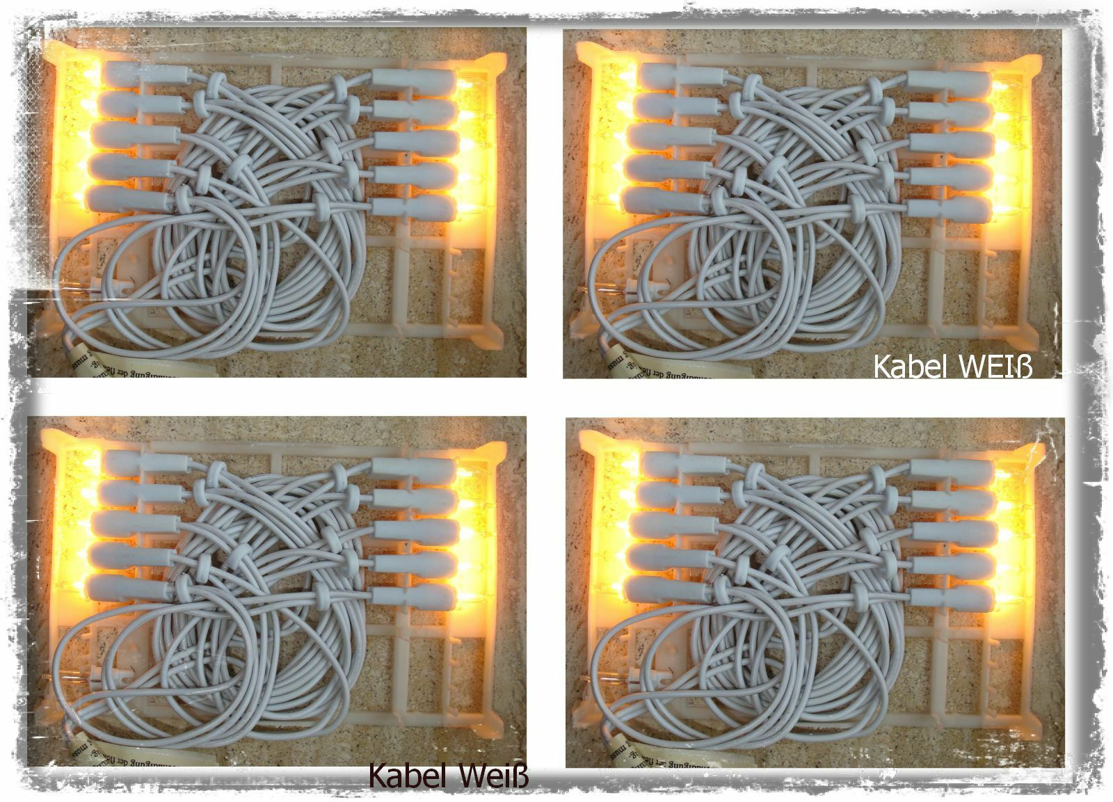 10  x x x 10er Mini Lichterkette,10 Lichter Weisse Kabel Klare Lichter warm weiß | Luxus  37177f