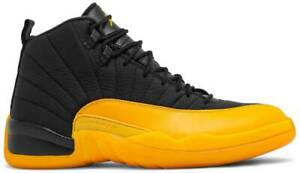 Nike Air Jordan 12 Retro 'University Gold' Black Authentic New Mens
