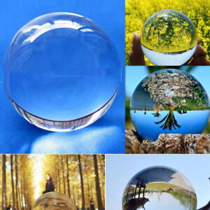 Details about Clear Glass Crystal Ball Healing Sphere Photography Props  Lensball Decor Gift