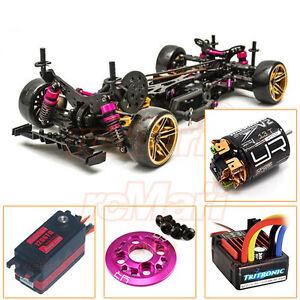 3racing Sakura D4 Awd 1 10 Drift Car Kit Servo Esc 13t Motor Ep Rc