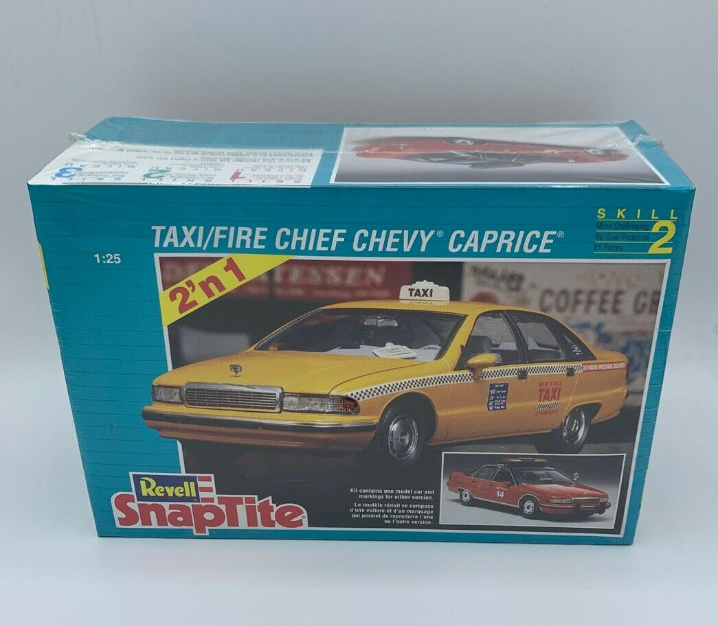 Revell 6294 SnapTite Taxi//Fire Chief Chevy Caprice Model Car Mountain 1//25 FS