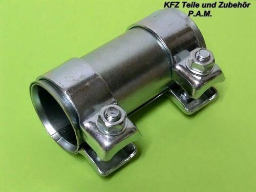 Auspuffschelle 60 mm bis 63 mm x 125 mm Rohrverbinder Doppelschelle Schelle