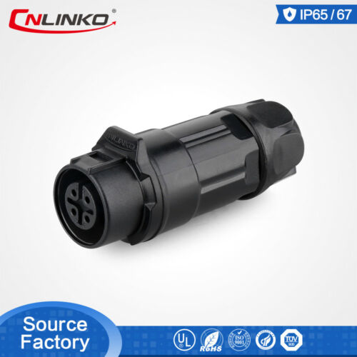 CNLinko M12 4 Pin Power Waterproof Power Connector Male Female Mating Cable Plug