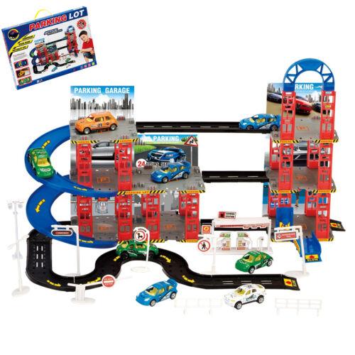 Multi Storey City Parcheggio Auto Parcheggio Auto Die Cast set gioco giocattolo NATALE