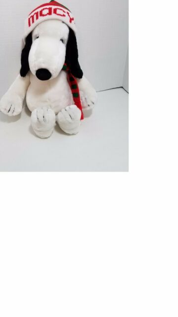 Vintage Macy's Plush Large X-Mas Snoopy with Hat & Scarf -1968 Peanuts Holiday