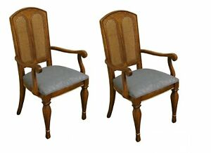 Set Of 2 Stanley Furniture Contemporary Style Cane Back