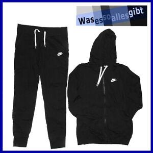 SCHNAPPCHEN-Nike-Sportswear-Track-Suit-Fleece-Women-schw-Gr-M-T-1299