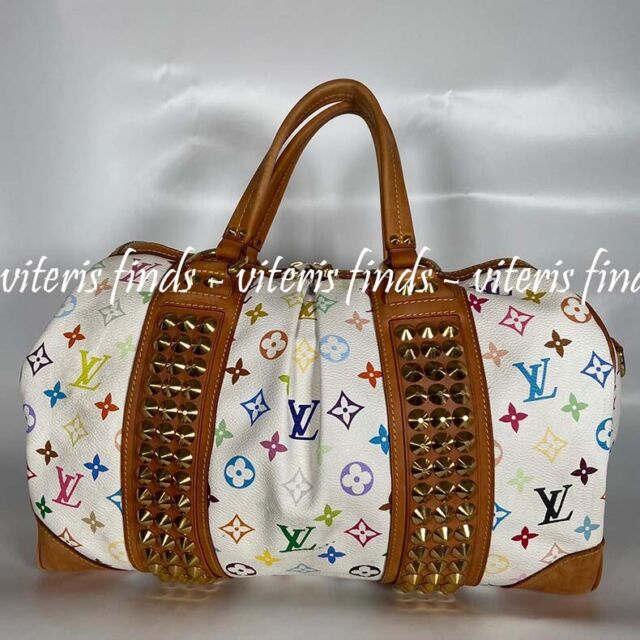 Authentic Louis Vuitton Theda Gm Hand Bag Monogram Multicolor Bron White M92347 For Sale Online Ebay