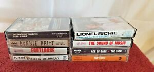 Lot of 8 Mixed Cassette Tapes Different Collection Rock  Pop 70's&80's