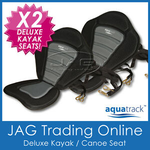 2-x-DELUXE-ADJUSTABLE-PADDED-CANOE-KAYAK-SEATS-HIGH-BACK-REST-AQUATRACK