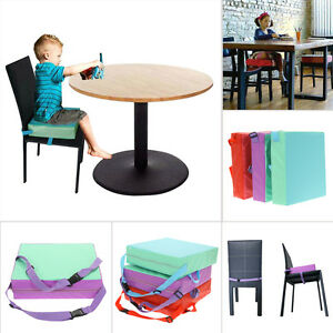 portable baby kids toddler feeding high chair booster seat pad dining cushion ebay. Black Bedroom Furniture Sets. Home Design Ideas