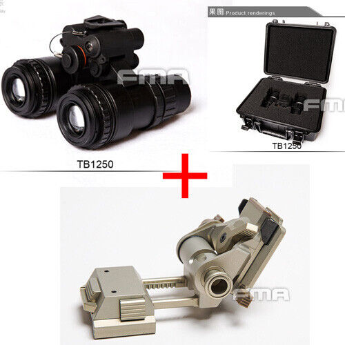 FMA Metal Cnc Wilcox montaje L4G24 + AN PVS-15 de visión nocturna Goggle NVG Maniquí Con Caja