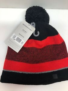 36933582af2 NWT Champion C9 Red Striped Pom Hat Mens Reflective One Size