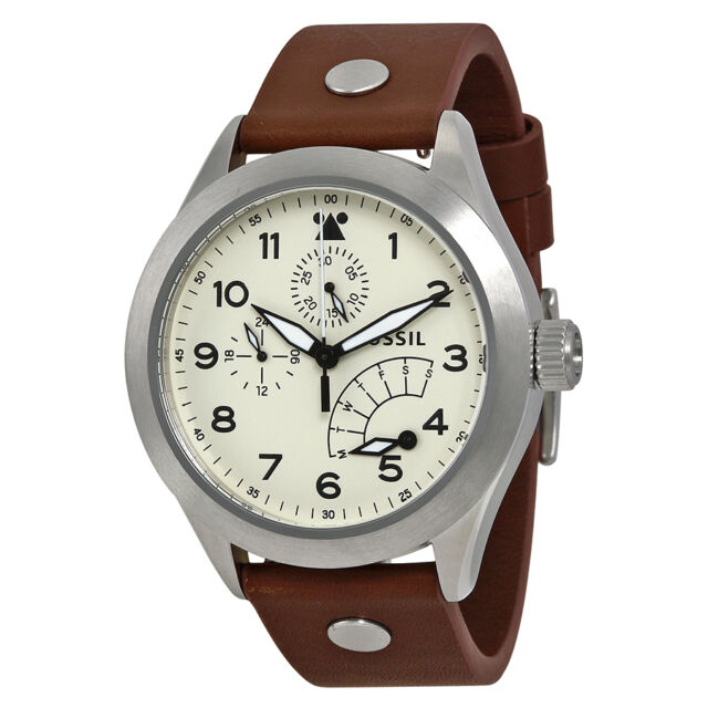 Fossil Aeroflite Multi-Function Brown Leather Mens Watch CH2938