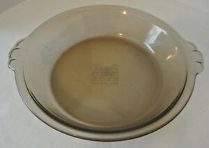 Image is loading RARE-Vintage-PYREX-Glass-207-SMOKE-7-034- & RARE Vintage PYREX Glass 207 SMOKE 7\