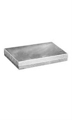 """87606 with 7/"""" x 5½"""" x 1/"""" Silver Count of 100 Cotton-Filled Jewelry Boxes"""