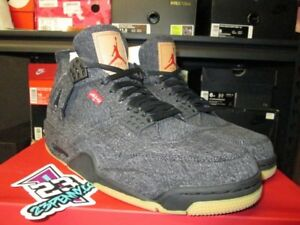 AIR JORDAN IV 4 LEVI S BLACK DENIM NRG RETRO AO2571 001 SZ 8-11 NEW ... 736ae57e4