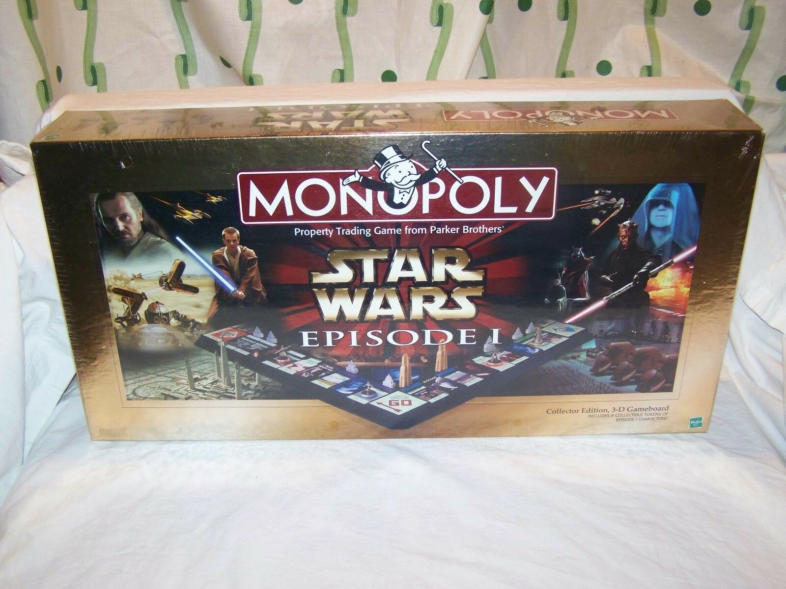 NEW 1 Monopoly Star Wars Episode 1 NEW Collectors Edition 1999 Factory Sealed 3-D fe7af8
