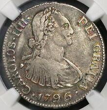 1796-NG NGC VF 30 GUATEMALA Silver 2 Reales Spain Colony Top POP 1/0 (17022502C)