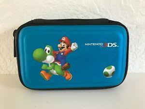 Pochette Housse Etui Nintendo 3 Ds Mario Bleu Ebay