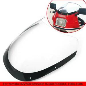 Details about Motorcycle Windshield Wind Screen Air Deflector For Yamaha  RZV500R RZ500 RD500LC