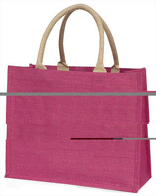 Baby Eulen auf Zweig große rosa Einkaufstasche Weihnachten Geschenkidee, ab-2blp