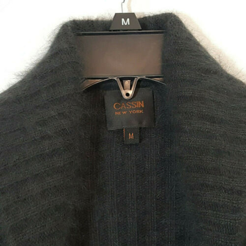Fuzzy Ouvert Pull Gris Angora 70 Cassin Cardigan XwSZPzq