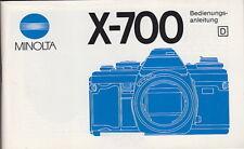 Minolta Bedienungsanleitung für Minolta X700 - Anleitung