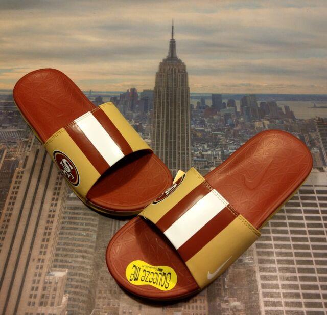 93332679f Nike Benassi Solarsoft NFL San Francisco 49ers Slide Sandal Size 9 831256  702