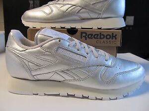 Details zu Wmns Reebok FACE STOCKHOLM Classic Leather CL Lthr Spirit Silver White 8 V62700