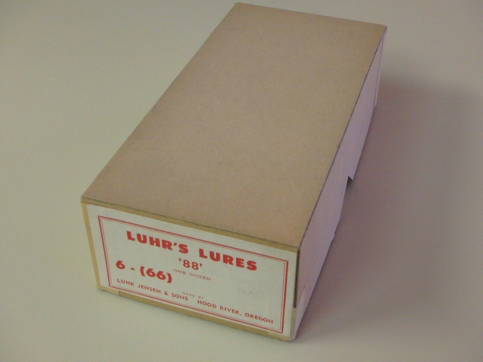 Vintage Luhr Jensen & Sons Luhr's Señuelos  88  Distribuidor Caja  6 Darojoevil trabajo De Pintura