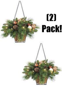 image is loading 2 holiday wonderland 23 034 battery operated christmas - Christmas Hanging Baskets