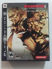 Metal Gear Solid 4: Guns of the Patriots Limited Edition !MINT! Complete!