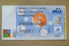 1998 World Cup Eighth Final Tickets- BRAZIL v CHILE, 27 June, Match 50 (Org*,VG)