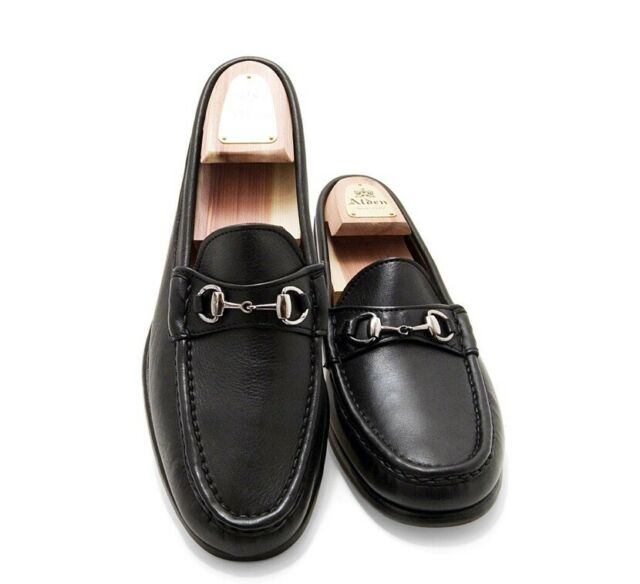 5f44af0baa0 Alden H467 Cape Cod Black Leather Horse Bit Loafers Shoes Made in USA Size  10 D for sale online