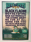 HITS & PITS FESTIVAL Australia 2013 Poster A2 BLACK FLAG BOYSETSFIRE ATARIS *NEW