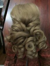 SIZE 13 DARK BROWN ANIKA WIG  MOHAIR SYNTHETIC   MODERN ANTIQUE DOLL