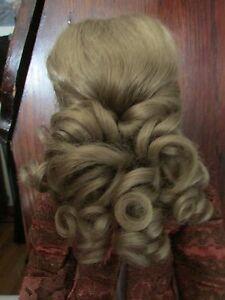SIZE 7  GEORGIA WIG  MOHAIR SYNTHETIC  LT BROWN  MODERN ANTIQUE DOLL