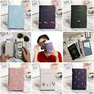 Flamingo-Leather-Passport-ID-Holder-Clip-Cover-Travel-Wallet-Passport-Set-Unisex